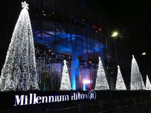 ミレニアムヒルトン-バンコクのライトアップ