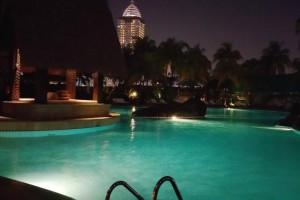 夜のグランドハイアット-ジャカルタ