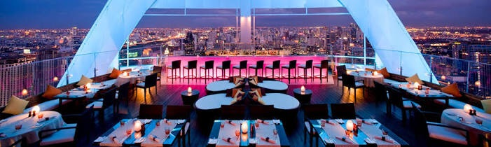 バンコクで夜景がきれいなルーフトップバーはどこ??ベスト版!