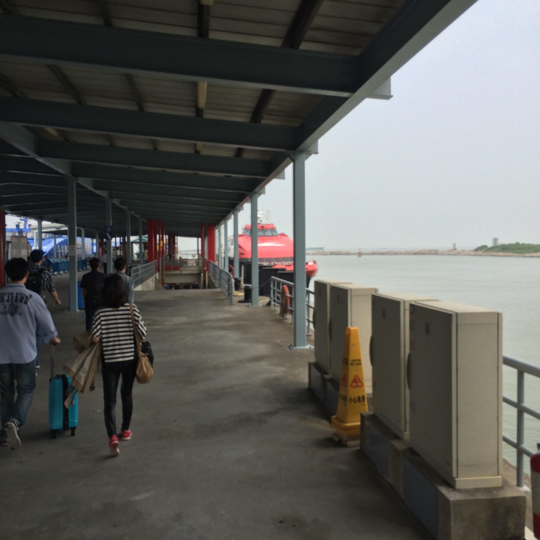 マカオから香港空港-フェリーターミナル-9