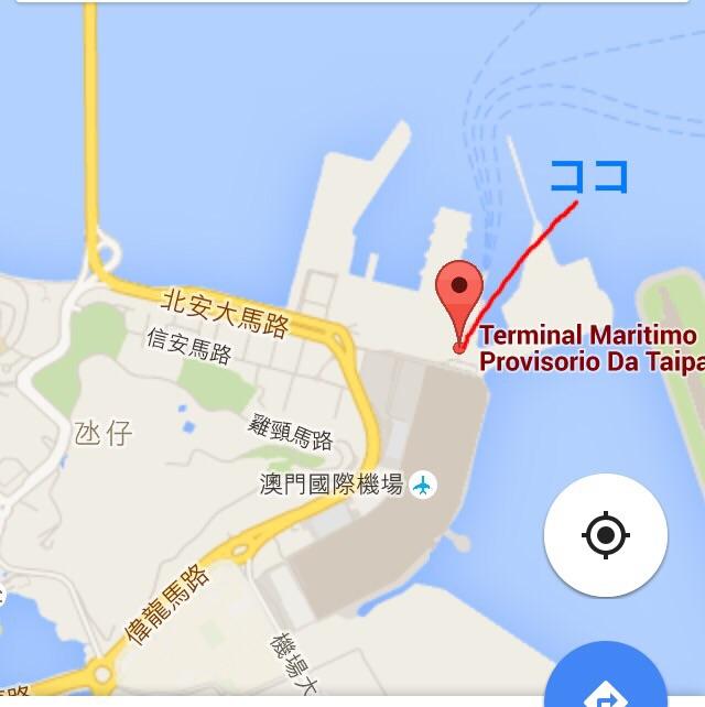 マカオ-タイパ-フェリーターミナルMAP-コタイジェット