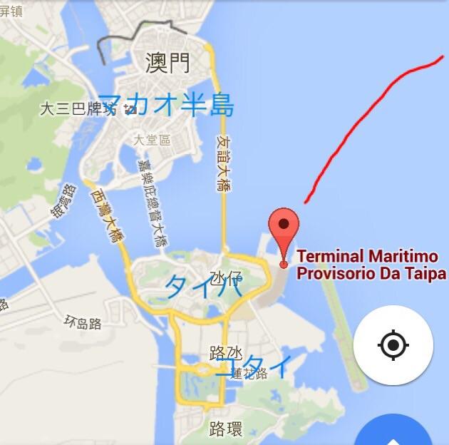 マカオ-タイパ-フェリーターミナル-MAP