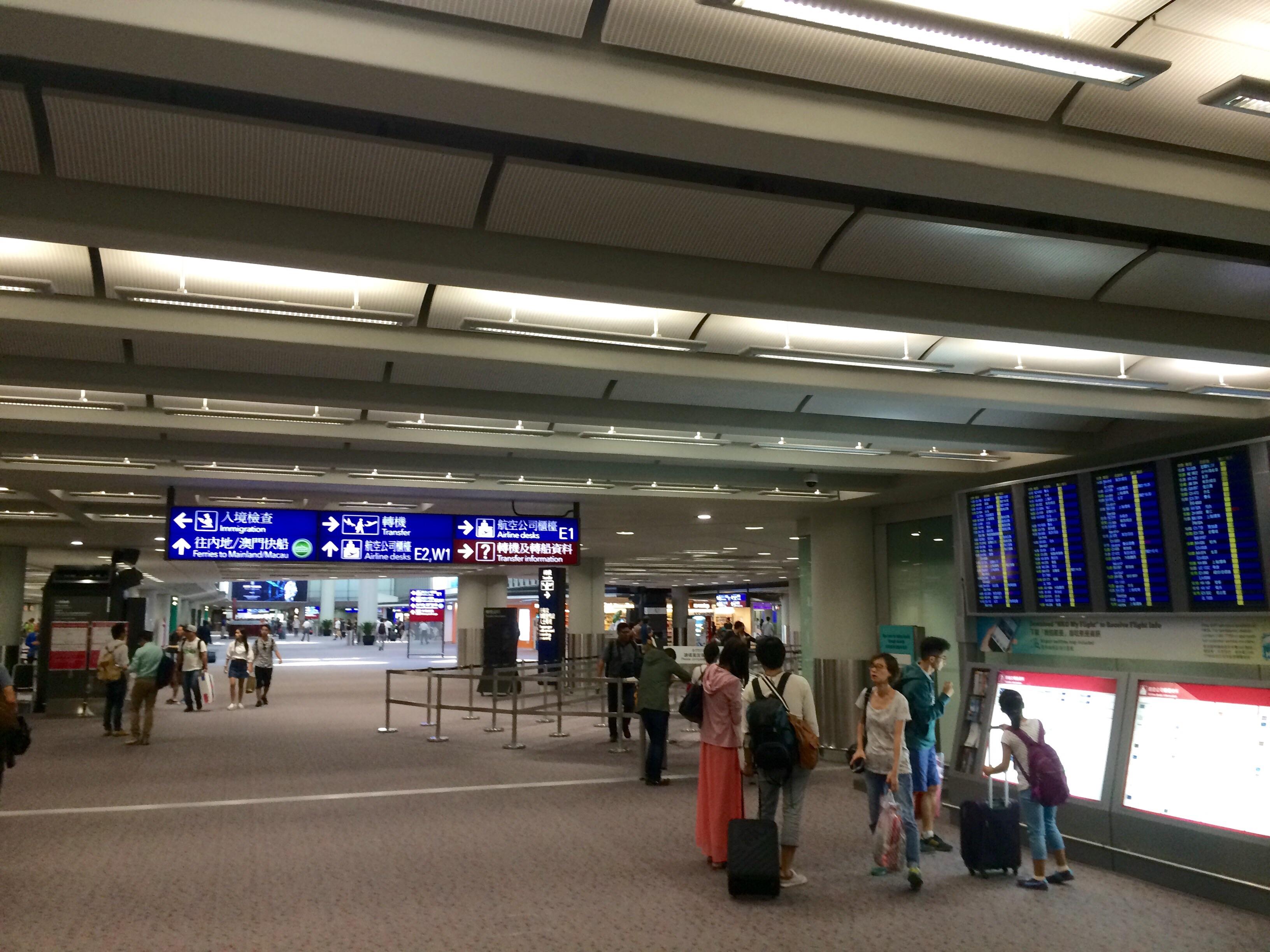 香港国際空港の入国16