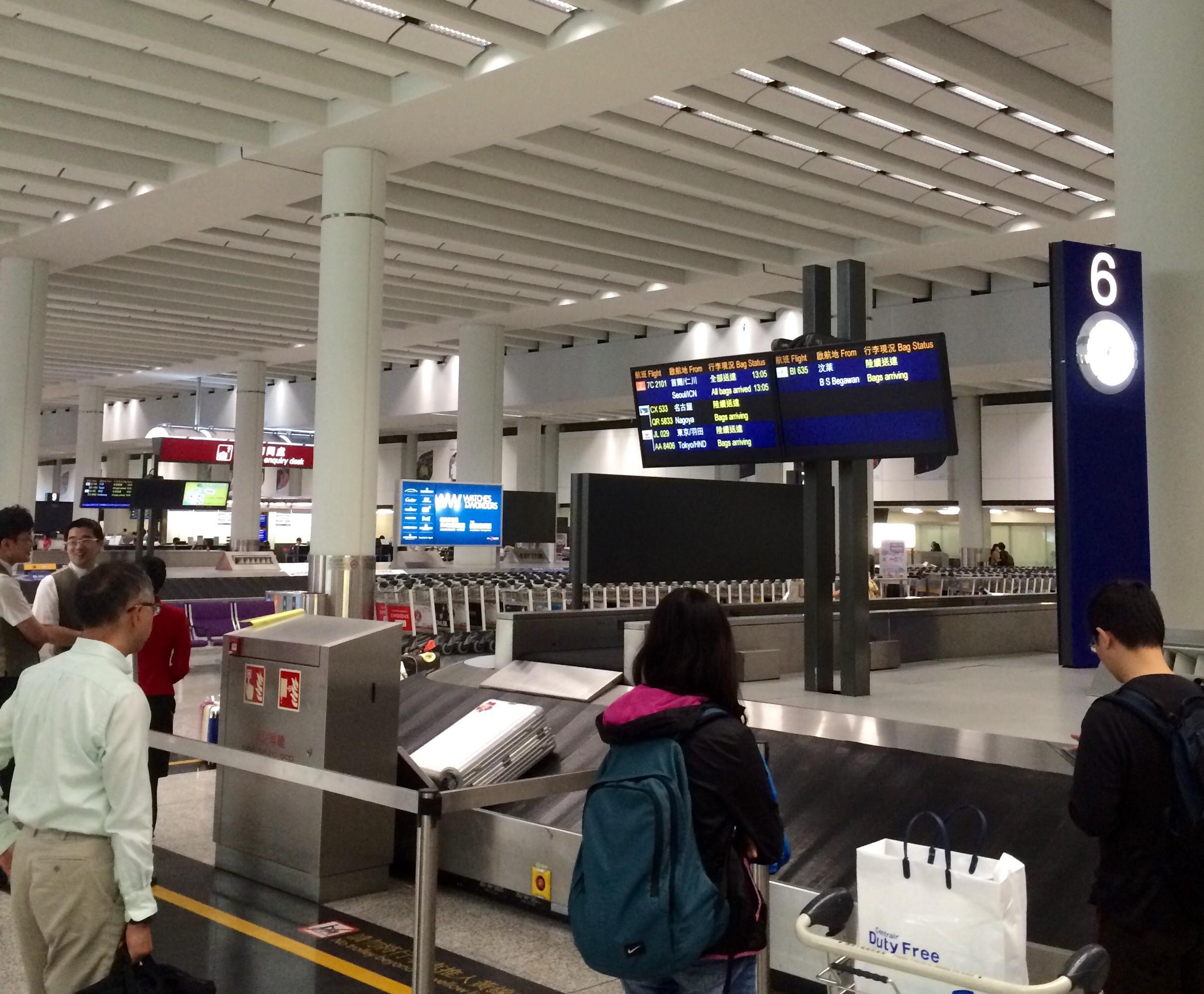 香港国際空港の入国19