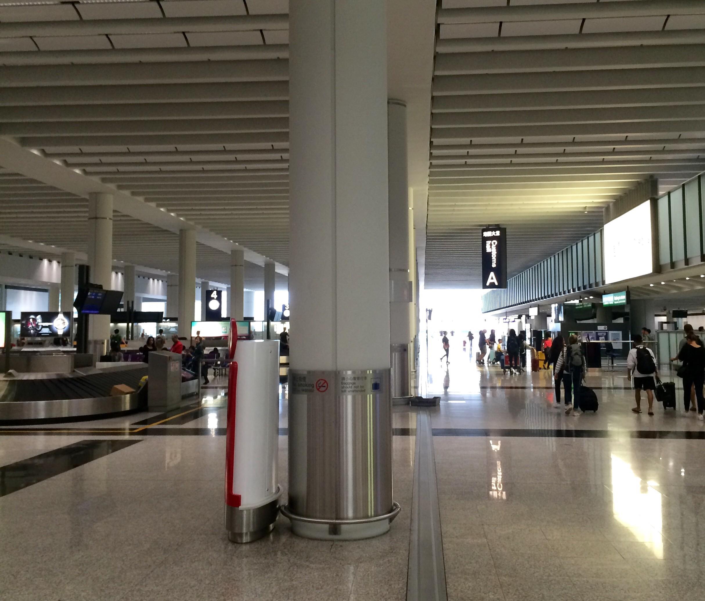 香港国際空港の入国20