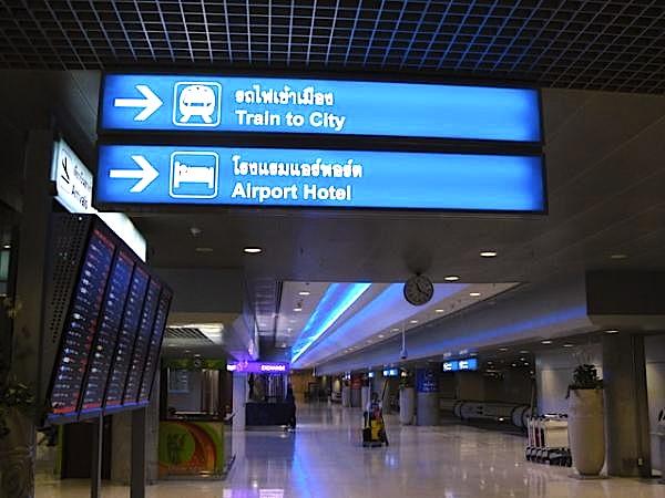 バンコク空港から市内の移動-エアポートリンクの駅