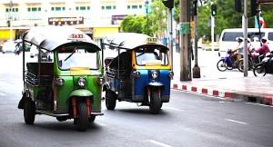 バンコクのタクシー-トゥクトゥク2