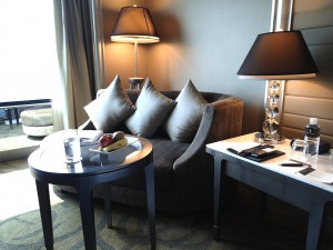 バンコクのインターコンチネンタルホテルの部屋