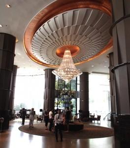 バンコクのインターコンチネンタルホテルのロビー