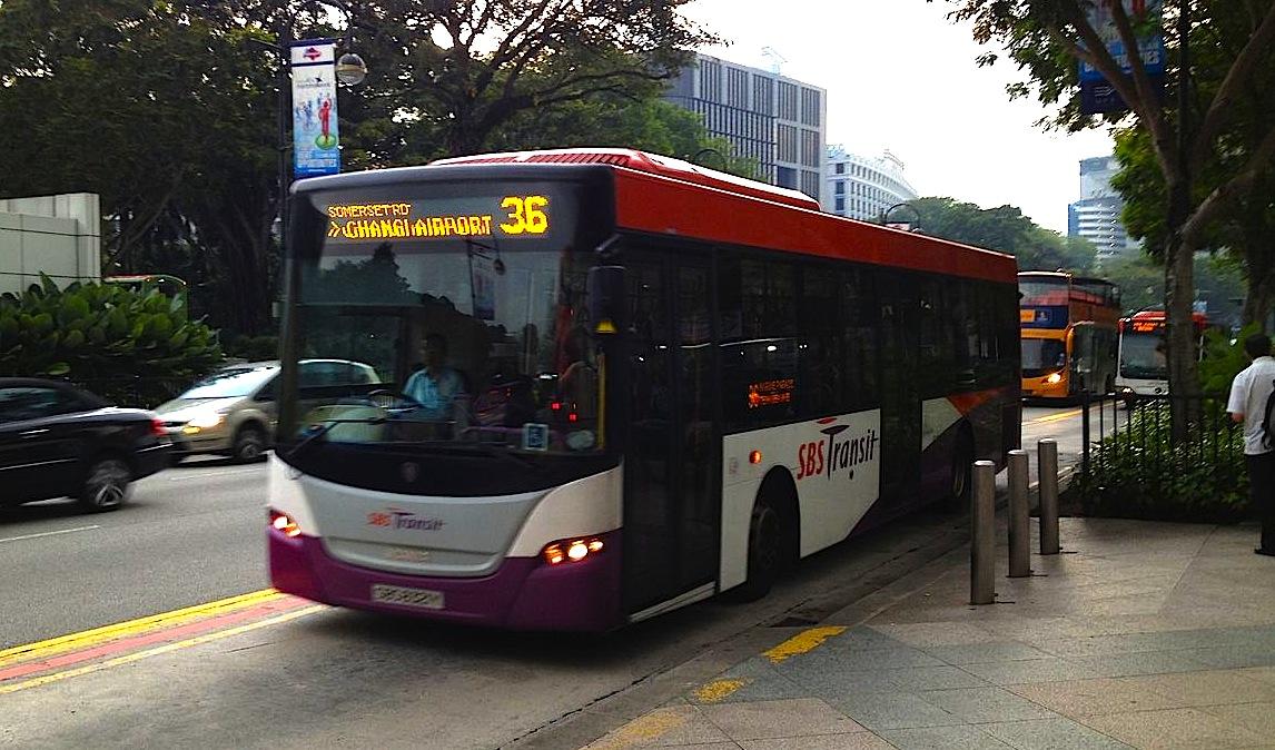 シンガポール空港から市内に移動4