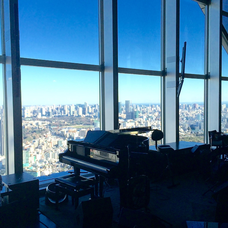 パークハイアット東京-ニューヨークグリル-レディガガのピアノ