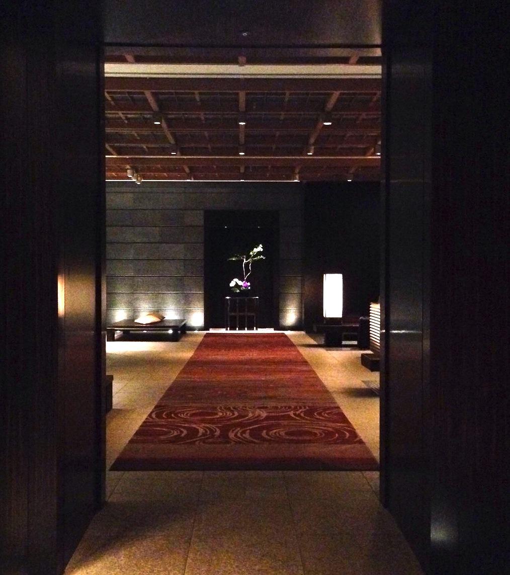 東京の最高級ホテル-マンダリンオリエンタル東京のロビー