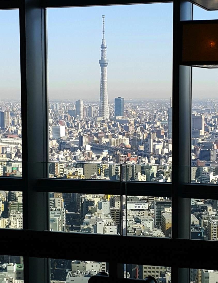 東京の最高級ホテル-マンダリンオリエンタル東京の景色