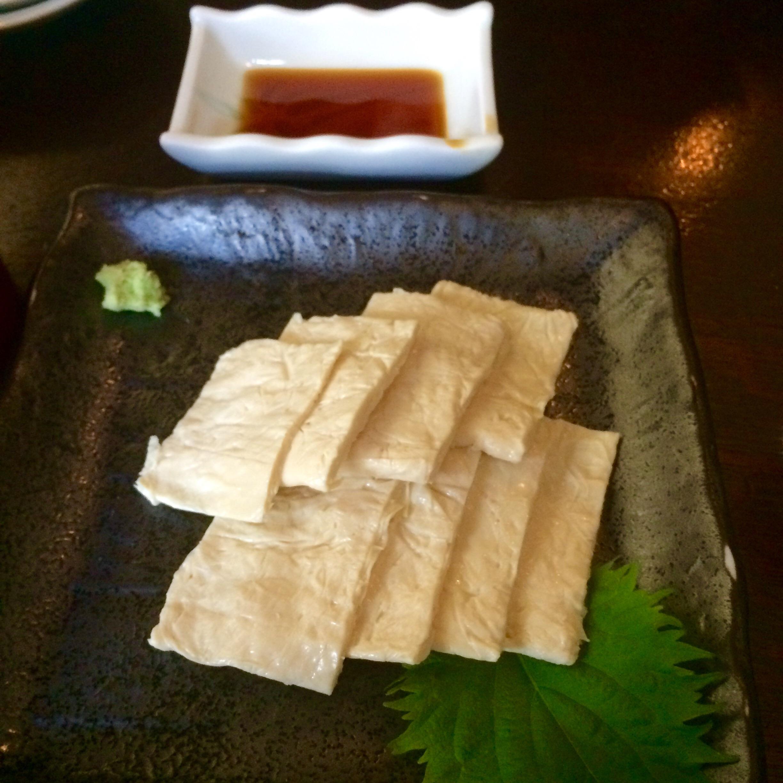 神田-まつや-手打ち蕎麦-湯葉刺し