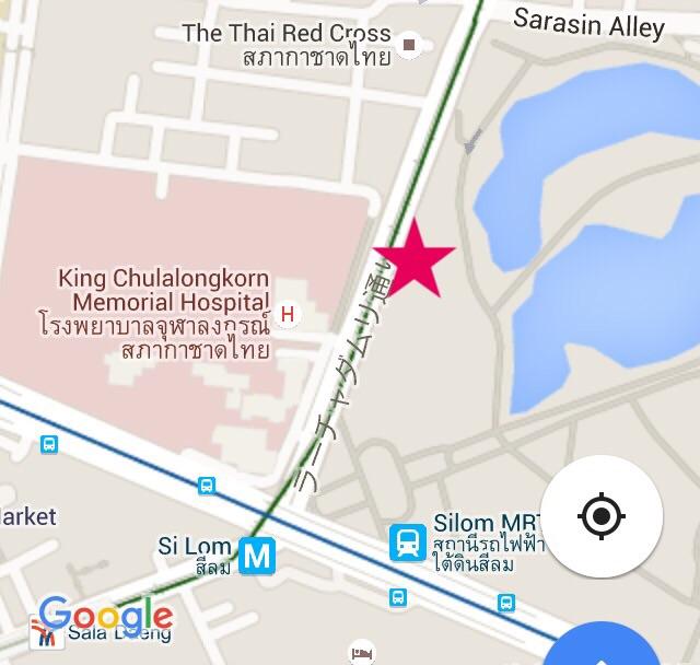 バンコクのチムチム屋台の地図-2