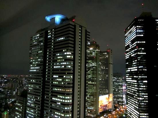 ヒルトン東京-新宿のホテル-夜景