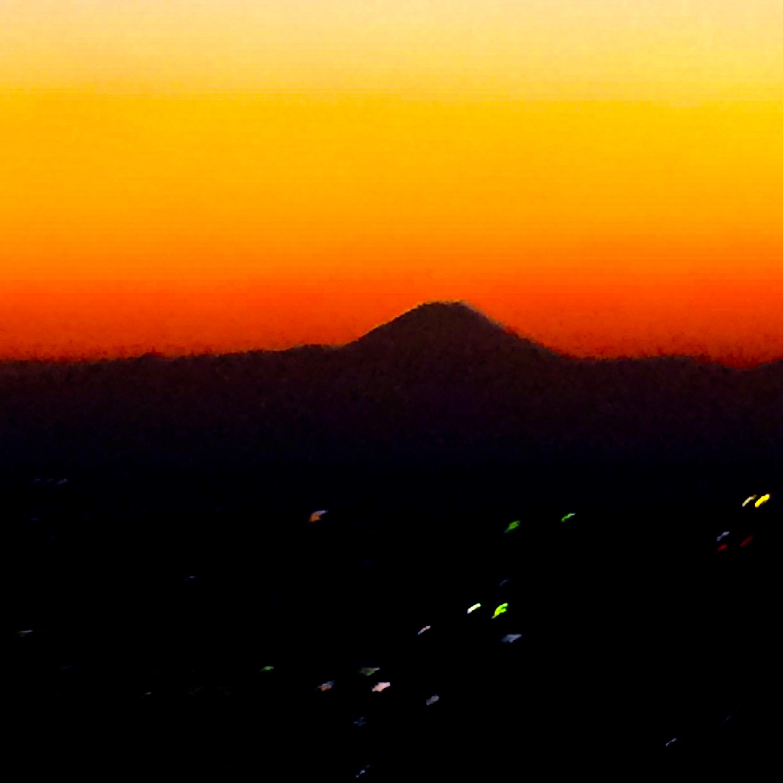 東京の観光-東京タワー-富士山