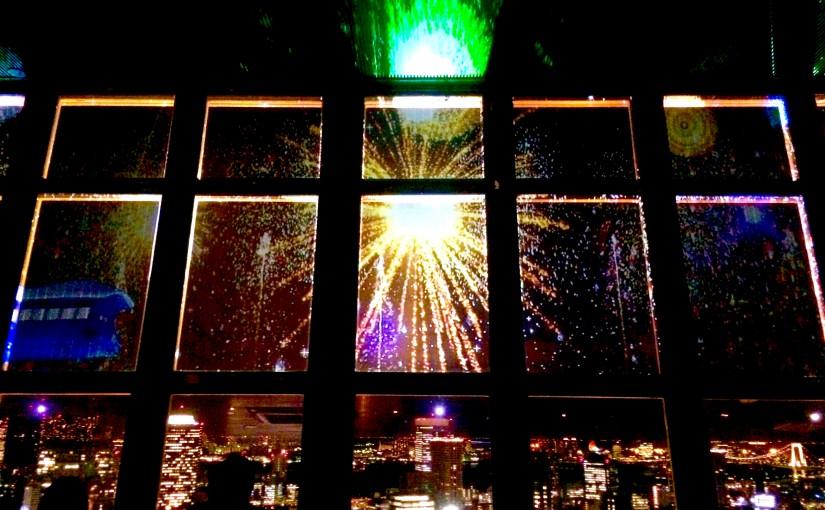 東京の観光-東京タワー-花火