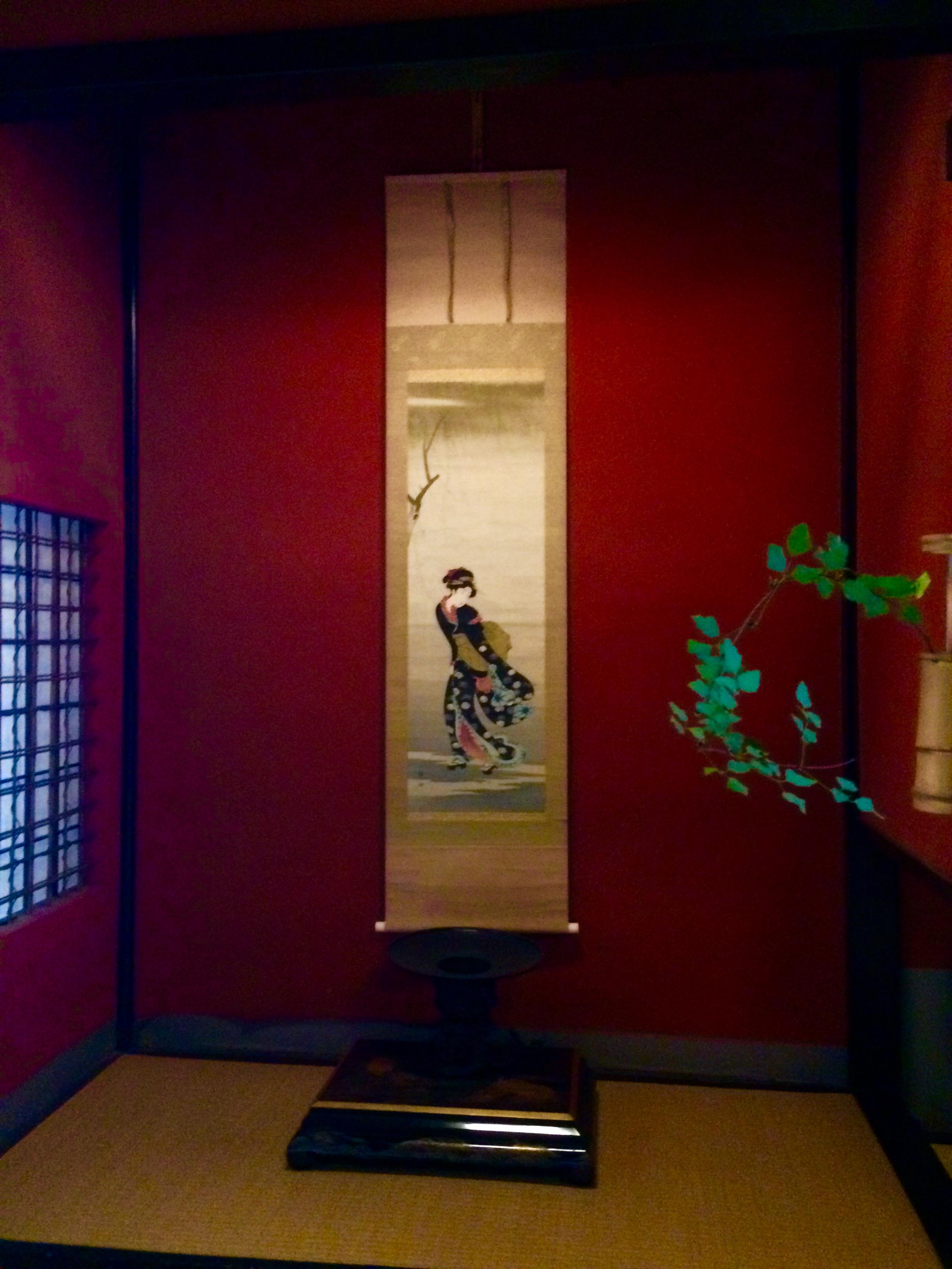 金沢の観光スポット-東の茶屋街-志摩-掛け軸
