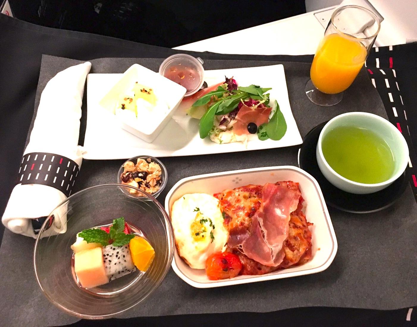 JAL-ビジネスクラス-食事-朝食