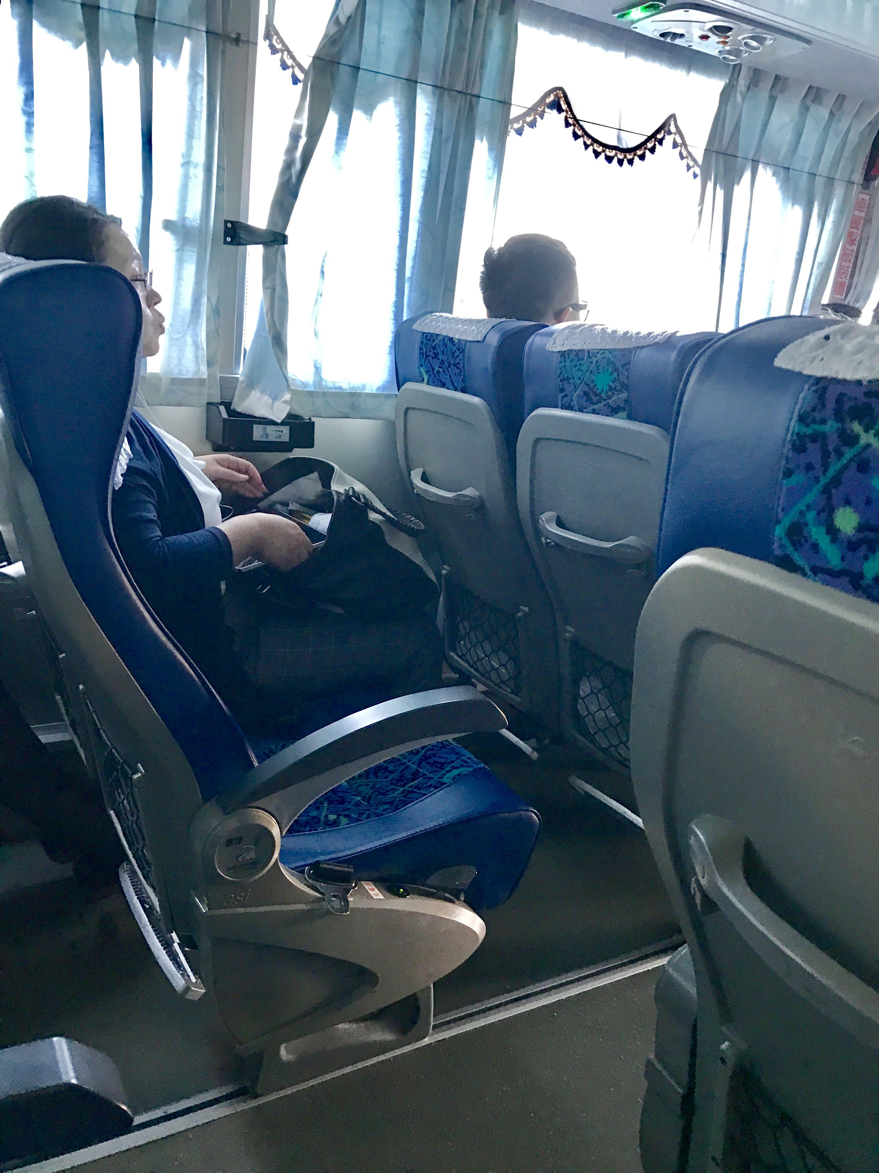 桃園空港から台北駅への移動のバス-座席