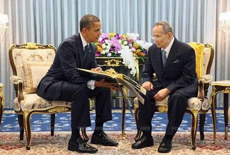 タイ-プミポン国王-オバマ