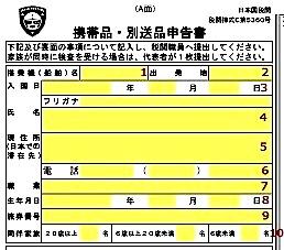 日本-帰国-税関カード-書類-書き方-3