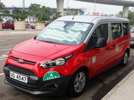 香港-大型のタクシー-ジャンボタクシー