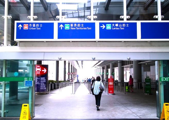 香港空港-タクシー