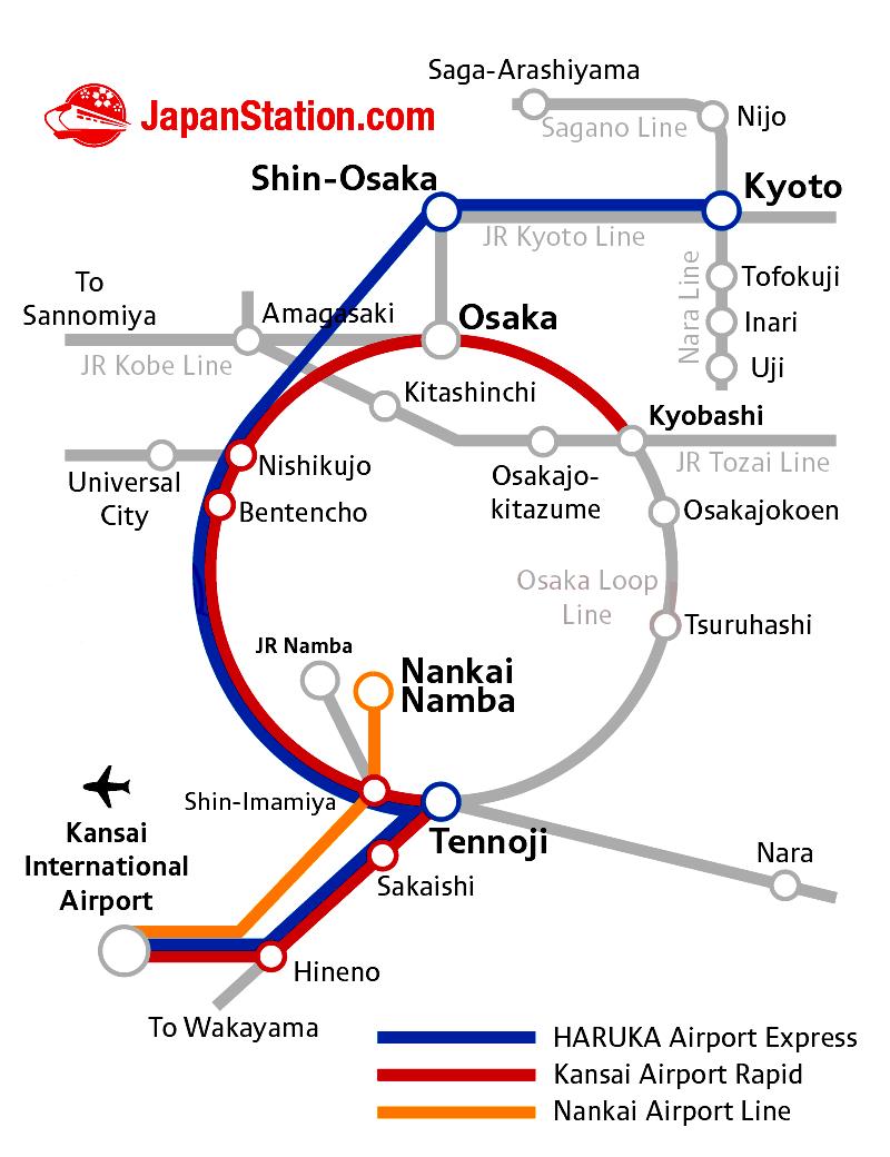 関空から-アクセス-移動方法-ラピート-バス-路線図