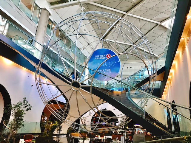 世界一豪華な空港ラウンジ★イスタンブール トルコ航空のビジネスラウンジ
