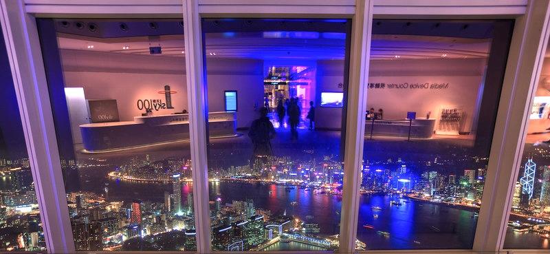 香港-展望台-景色-sky100-夜景