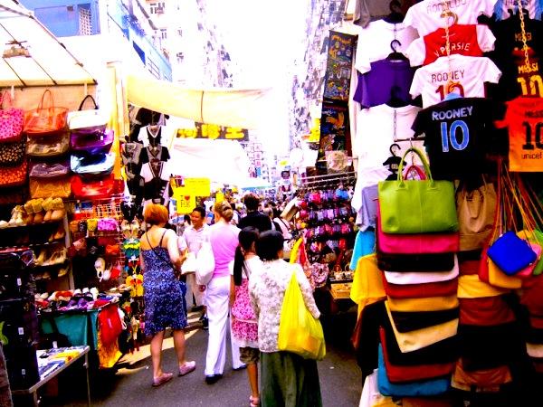 香港-繁華街-夜市