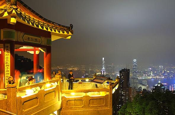 香港-ビクトリアピーク-夜景-1