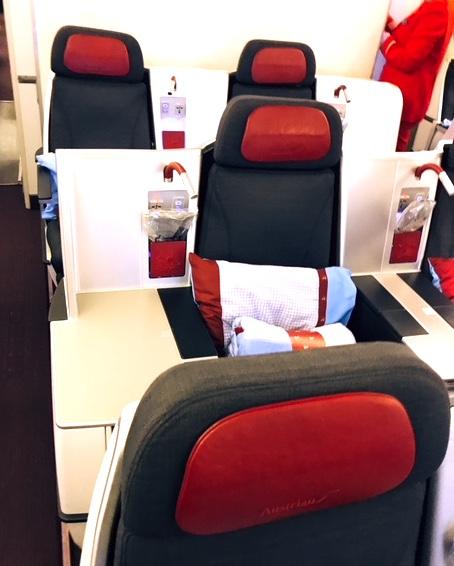 オーストリア航空-ビジネスクラス-シート-2