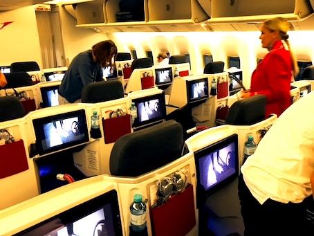 オーストリア航空-ビジネスクラス-シート-7