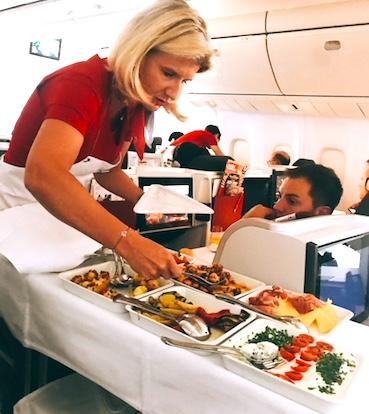 オーストリア航空-コーヒー-食事