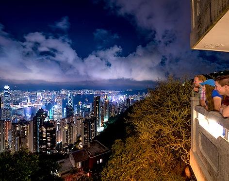 香港-ビクトリアピーク-夜景-4