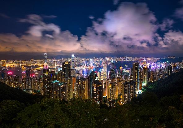 香港-ビクトリアピーク-夜景-2