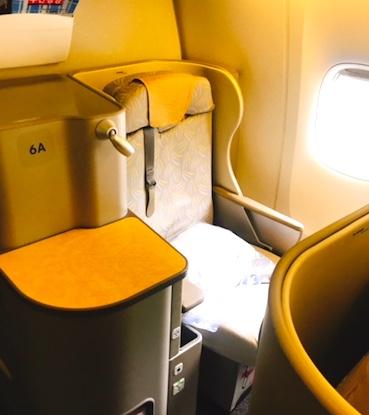 アシアナ航空-ビジネスクラス-シート-パリ-3