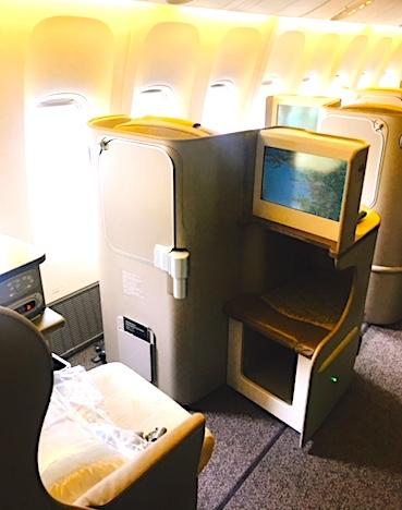 アシアナ航空-ビジネスクラス-シート-パリ-5