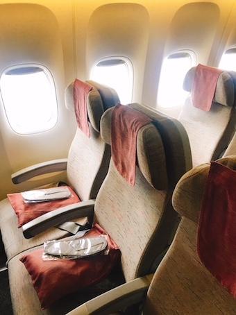 アシアナ航空-エコノミー-シート-パリ-4
