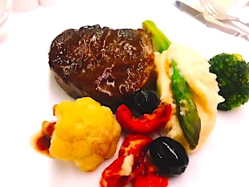 アシアナ航空-ビジネスクラス-機内食-パリ-1