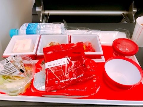 JAL-プレミアムエコノミー-機内食-3