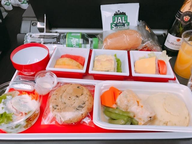 JAL-プレミアムエコノミー-機内食-13